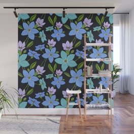 Forget -Me-Not flowers pattern Wall Mural