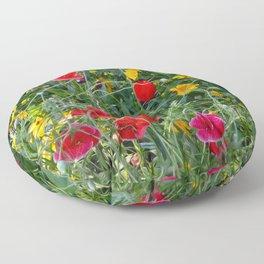 Wildflower Meadow Floor Pillow