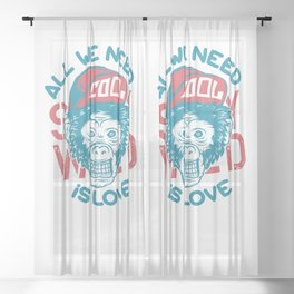 All we need is Love Sheer Curtain