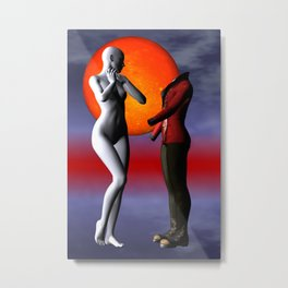 when they meet -2- Metal Print