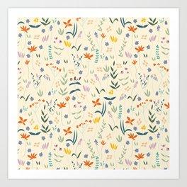 Retro Botanical Art Print