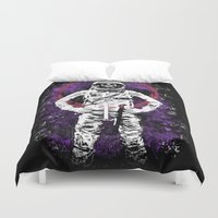 buzz lightyear Duvet Covers featuring This Ain't No Buzz Lightyear Action Flick by WhotheFisJC