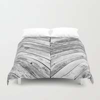 antique Duvet Covers featuring Antique Wood by Patterns and Textures