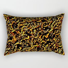 Neon Sparkle Red and Green Rectangular Pillow