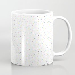 Pastel Doodles on White. Watercolor Shapes Abstract Pattern Coffee Mug