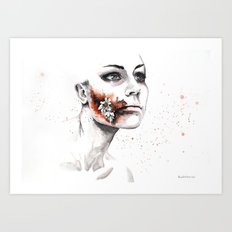 Flowers from wounds Art Print