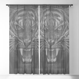 Heart of a Tiger Sheer Curtain