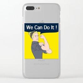 Mildred_WeCanDoIt! Clear iPhone Case