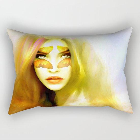 Butterfly angel Rectangular Pillow