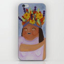 Fruit Basket Woman iPhone Skin
