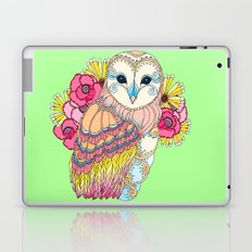 Barn Owl & Flowers Laptop & iPad Skin