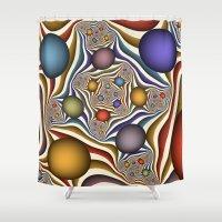 fractal Shower Curtains featuring Fractal by gabiw Art
