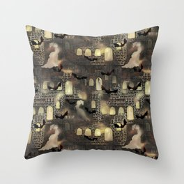 haunted castle Throw Pillow