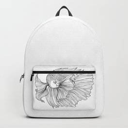 Siamese fighting fish Backpack