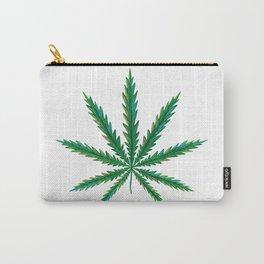 Marijuana. Cannabis leaf  Carry-All Pouch