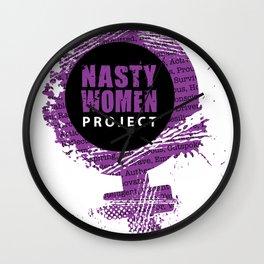Nasty Women Project - Symbol - White Wall Clock