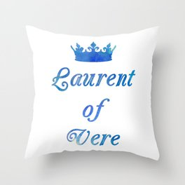 A Golden Prince Throw Pillow