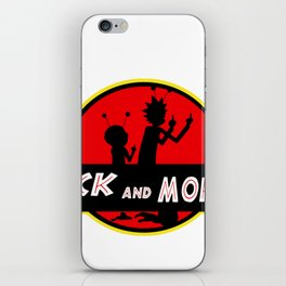 rick morty park iPhone Skin