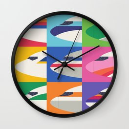 Retro Airline Nose Livery Design - Grid Large Wall Clock