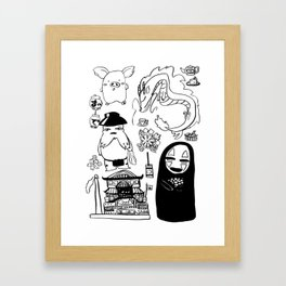 Spirit Away Characters Framed Art Print