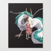 spirited away Canvas Prints featuring Spirited Away by Sharna Myers