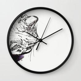Study of a Sleepy Kitty Wall Clock