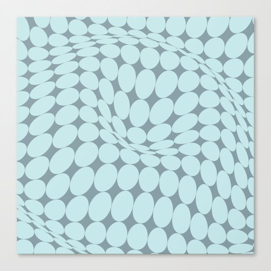 Swirling Points - Optical game 22 Canvas Print