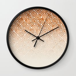 Ombre Watercolor Triangle Pattern (Orange) Wall Clock