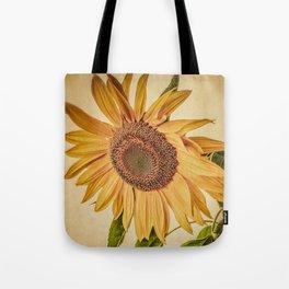 Vintage Sunflower Tote Bag