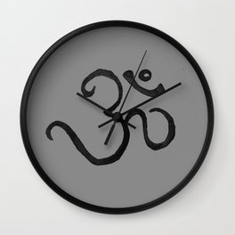 Ohm / OM - Grey Plain Wall Clock