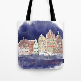 Midnight in Gdańsk Tote Bag