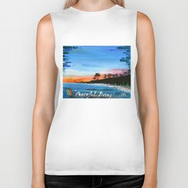 """PEACEFUL LIVING""  Biker Tank"