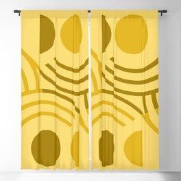 Golden Lion Absract Geometric Blackout Curtain