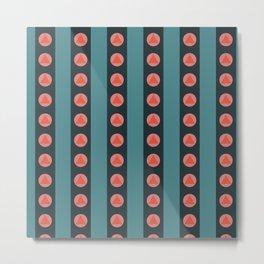 Patterned Stripes Metal Print