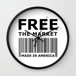 Free The Market Wall Clock