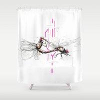 lovers Shower Curtains featuring Lovers by Herwig Scherabon