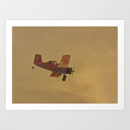 Crop Duster Flying In A Storm Art Print