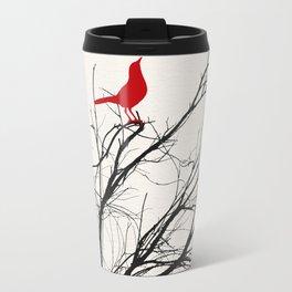 Red Bird on a Branch A533 Travel Mug