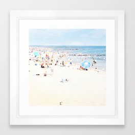Blue Beach Brooklyn Framed Art Print