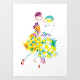 Rainbow Fashion Art Print