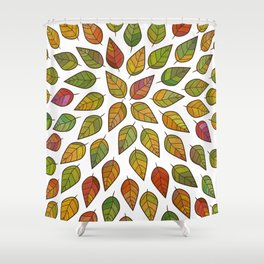 Autumn color explosion Shower Curtain