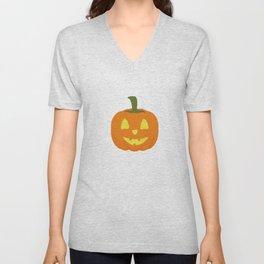Classic light Halloween Pumpkin Unisex V-Neck