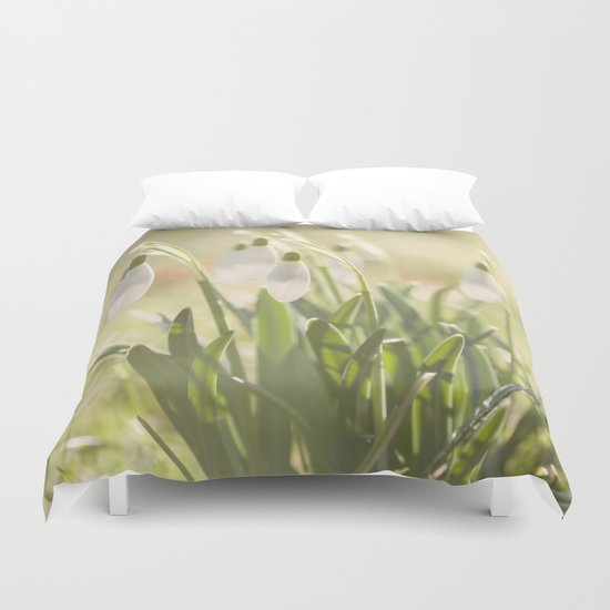 Spring is ringing - Snowdrop Snowdrops Duvet Cover