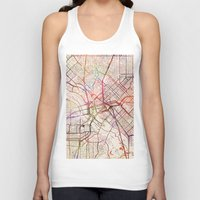 dallas Tank Tops featuring Dallas by MapMapMaps.Watercolors