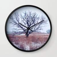 strong Wall Clocks featuring Strong by KunstFabrik_StaticMovement Manu Jobst