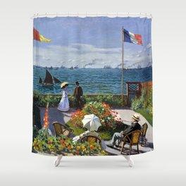 13,000px,600dpi-Claude Monet - Terrace in Sainte-Adresse - Digital Remastered Edition Shower Curtain