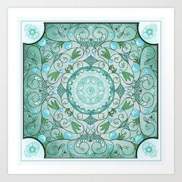 Balance of Nature Healing Mandala Art Print
