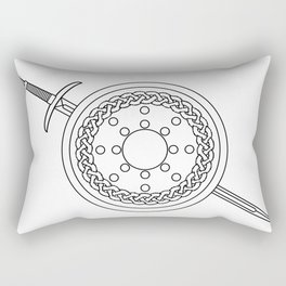 Claymore and Shield Outline Rectangular Pillow