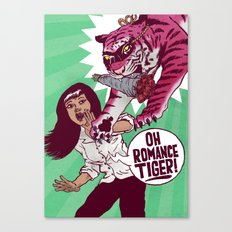 Oh Romance Tiger! Canvas Print