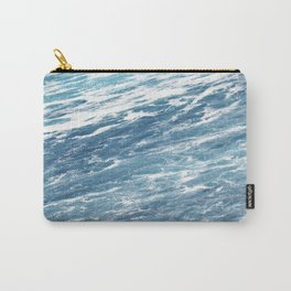 Ocean Water Waves Foam Texture Carry-All Pouch